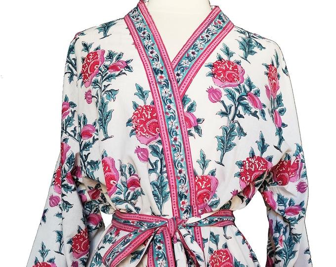 Short Kimono - Poppy - free size