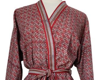 Short Kimono - Rust - free size