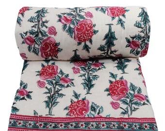"Mini Cotton Reversible Quilt - Poppy Red - 45"" x 56"""