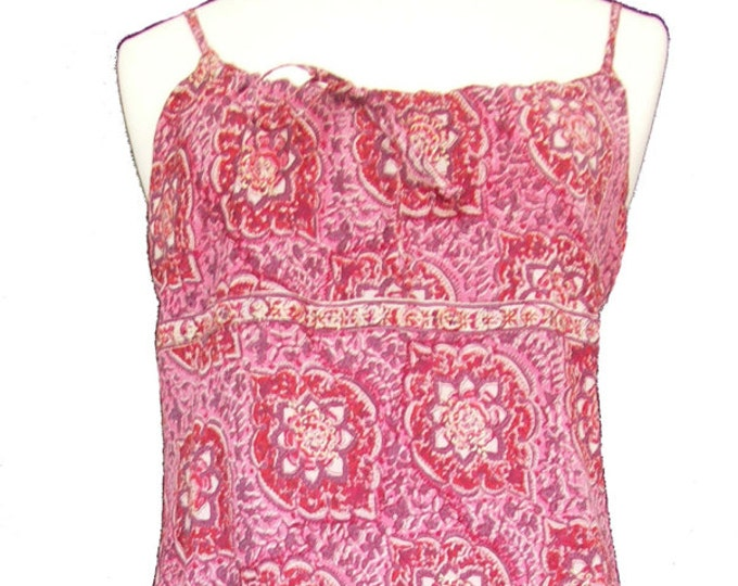 Pink Paisley Strappy Sun Dress