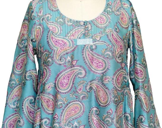 Mini tunic dress - silk