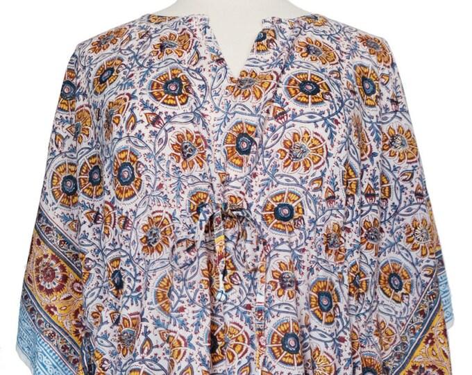 Mini Kaftan - Mughal Saffron- free size