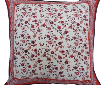 "Cotton Cushion Cover - Provencal Spice - Square 24"" x 24"""