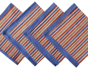 Napkins set of 4, striped napkins