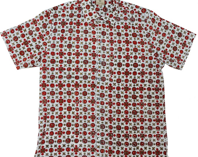 Mens Summer Shirt - Rust - 100% cotton