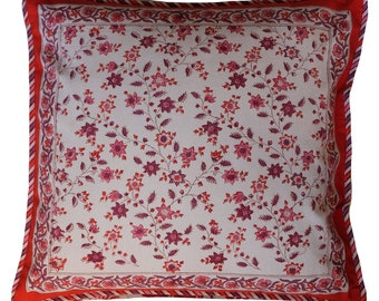 """Cotton Cushion Cover - Provencal - Dusty Pink - Square 18"""" x 18"""""""