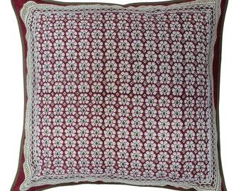 """Cotton Cushion Cover - Daisyhead - Square 24"""" x 24"""""""