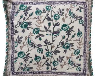 "Cotton Pillow cover - Cuckoo Vine - 18"" x 18"""