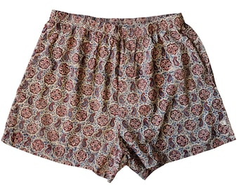 Unisex Cotton Boxers - Paisley Star