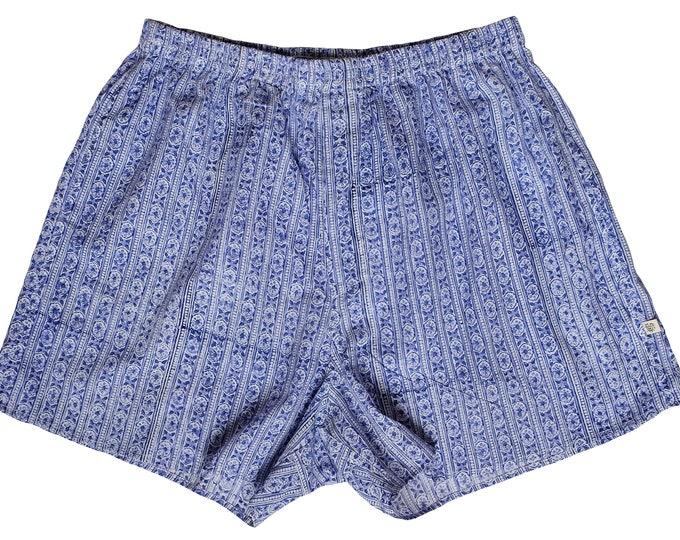 Unisex Boxers - Blue Paisley Stripe