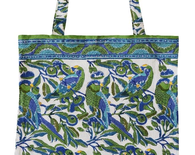 Cotton Tote Bag - Parrots