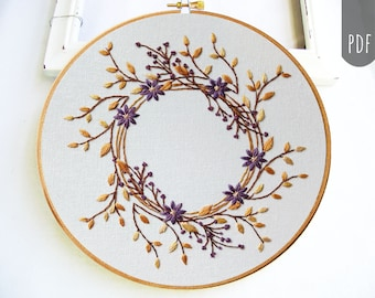 FALL WREATH   PDF Hand Embroidery Pattern