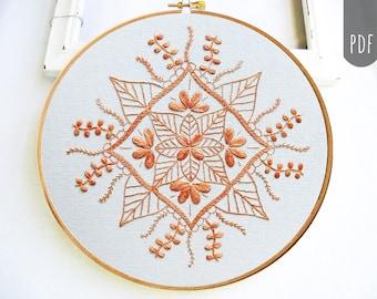 MANDALA  for FALL     PDF Hand Embroidery Pattern