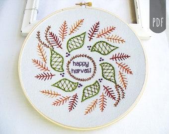 HARVEST MANDALA    PDF Hand Embroidery Pattern