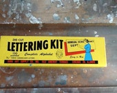 Vintage 1930s Die Cut Lettering Kit Duro Art Supply Co. Chicago IL