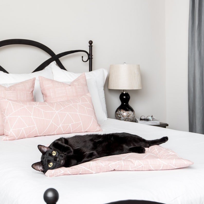 Cat Furniture Pad Millenial Pink cat bed Cat lady cat lover gift Catnip Cuddler Blush Cat Bed Cat Gift Refillable catnip filled mat