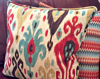 """16"""" 18"""" 20"""" 24"""" Custom Pillow Cover with Piping/Cording/Welt using Your Fabric"""