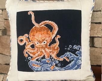 Custom Needlepoint Embroidery Cross Stitch Finishing Pillow