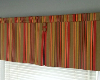 Custom Made to Order Rod Pocket Valance with Center Pleat Use Your Fabric