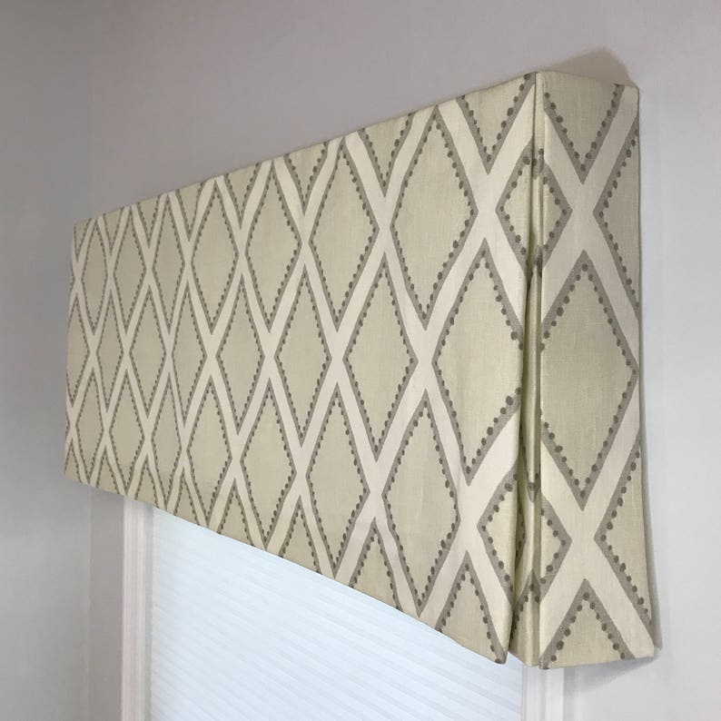 Custom Made to Order Box Pleat Valance Using Your Fabric image 0