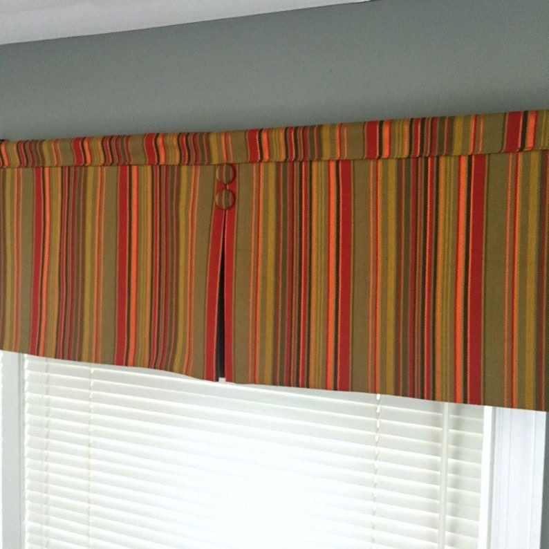 Custom Made to Order Rod Pocket Valance with Center Pleat Use image 0