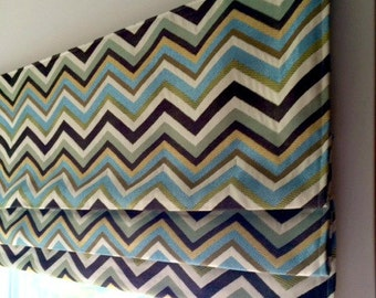 Custom Made to Order Faux (Fake) Stationary Flat Roman Shade Valance  Use Your Fabric