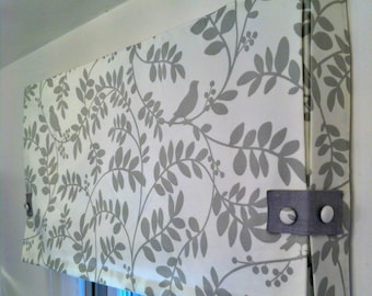 Custom Made to Order Box Pleat Valance Using Your Fabric