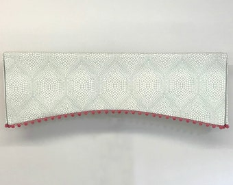 Custom Made to Order Curved Kick Pleat Valance with trim or piping Using Your Fabric