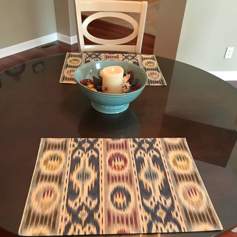 Custom Made to Order Placemats Using Your Fabric image 1