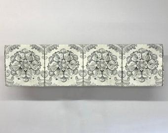 Custom Made to Order Segmented Box Pleat Valance Using Your Fabric