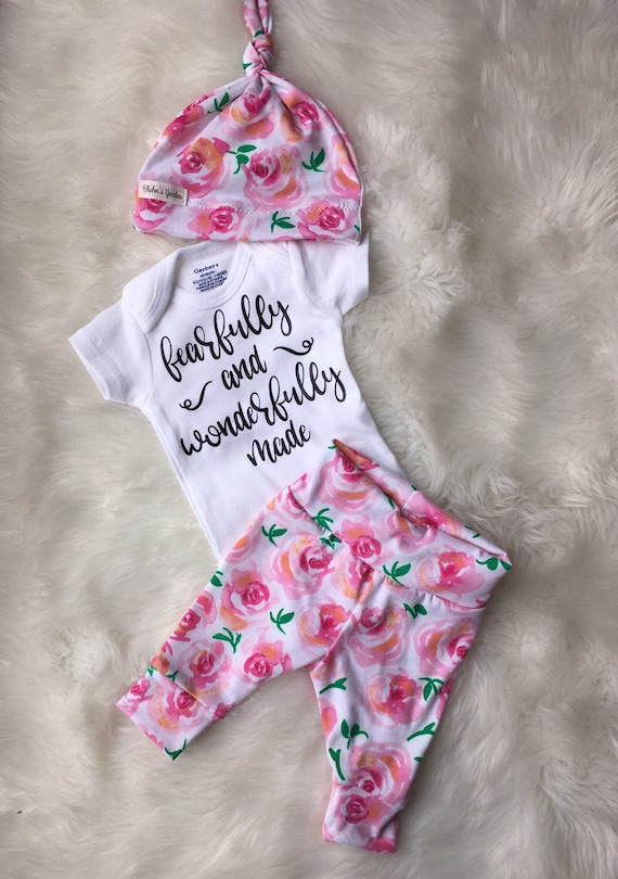 2ae5275b6 Newborn Baby coming home outfit  fearfully and wonderfully