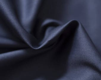 Navy blue cotton sateen - 50 cm