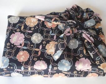 Furoshiki en tissu Japonais lapins shippo bleu 50 cm x 50 cm pour emballage cadeau
