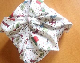 Furoshiki paquet cadeau collection Noël 50 cm x 50 cm