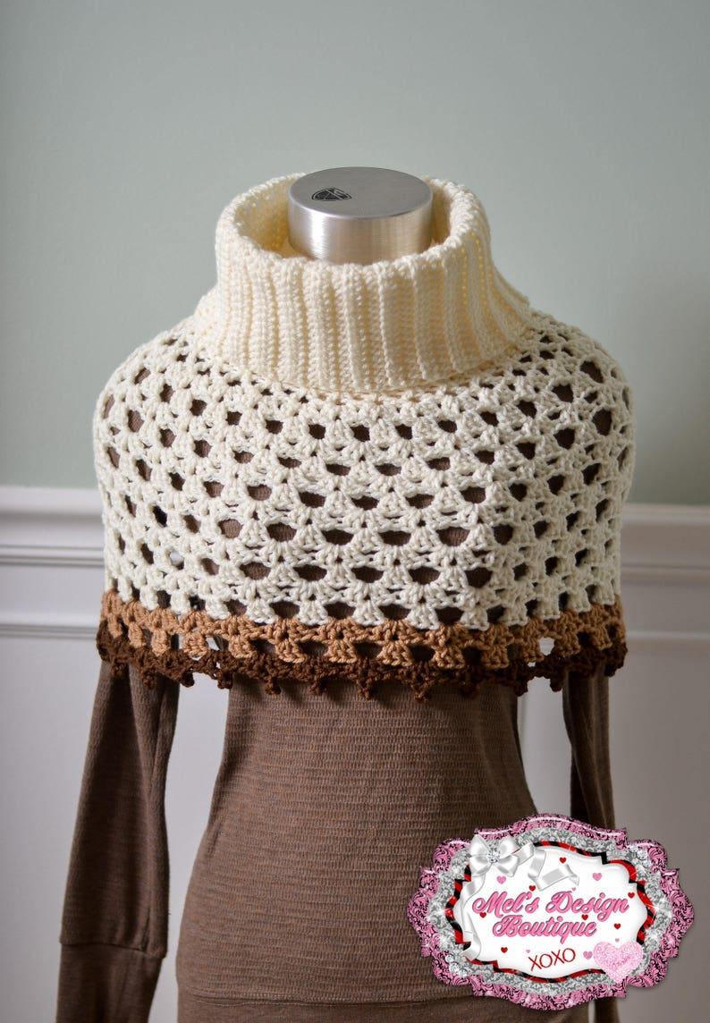 Crochet Womens Cowl Neck Poncho Crochet Poncho Crochet Etsy