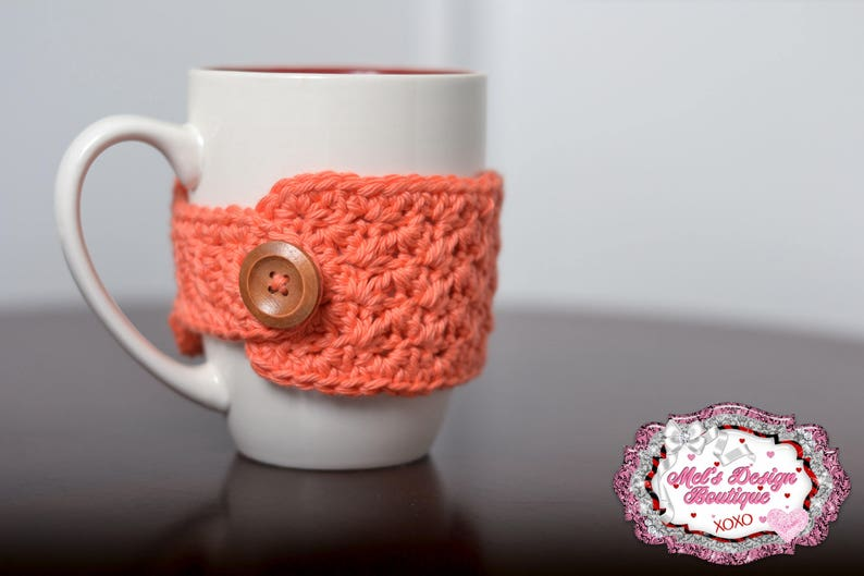 mug cozy crochet cozy coffee cozy tea cozy cup cozy coral