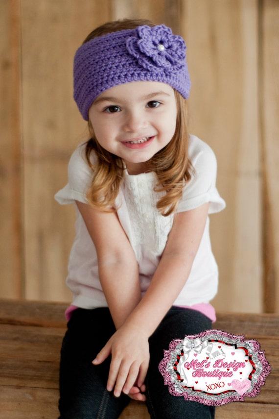 girls head wrap toddler ear warmer crochet headband  3c83a2f7062