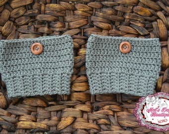 Womens boot toppers, boot cuffs, crochet boot covers, womens medium crochet boot cuffs crochet boot cuffs gray ready to ship grey winter