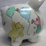 Personalized Piggy Bank Classic Winnie the Pooh and Piglet