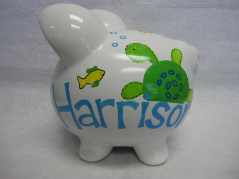 Personalized Piggy Bank Turtles image 0