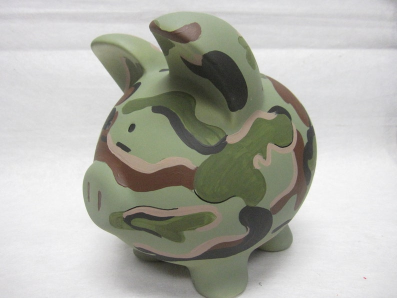 Personalized Piggy Bank Camoflauge image 0