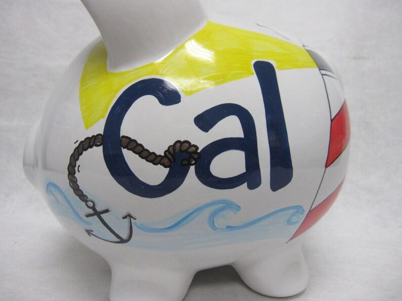 Personalized Piggy Bank Nantucket Nauticle image 0