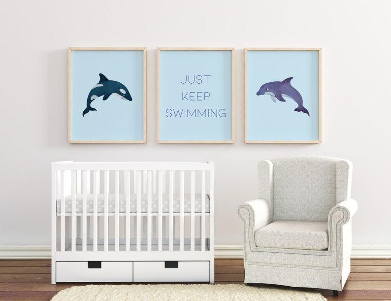 Minimalist Nursery Digital Print Set Children's Wall Art image 0