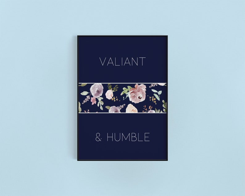 Minimalist Motivational Floral Digital Print Instant image 0