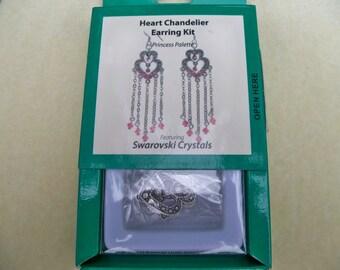 Swarovski Crystal Earring Kit Chandelier Dangles in Crystal Clear