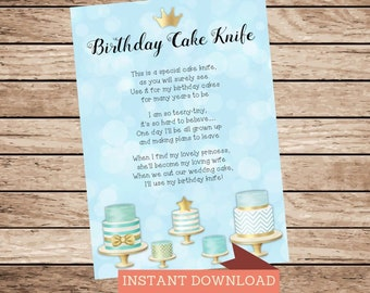 Cake Knife Poem