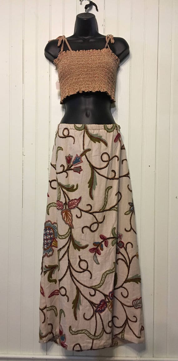 Hand Embroidered Vintage Skirt