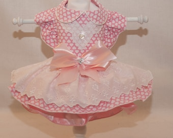 Made for Maddie Pink Hearts Dress