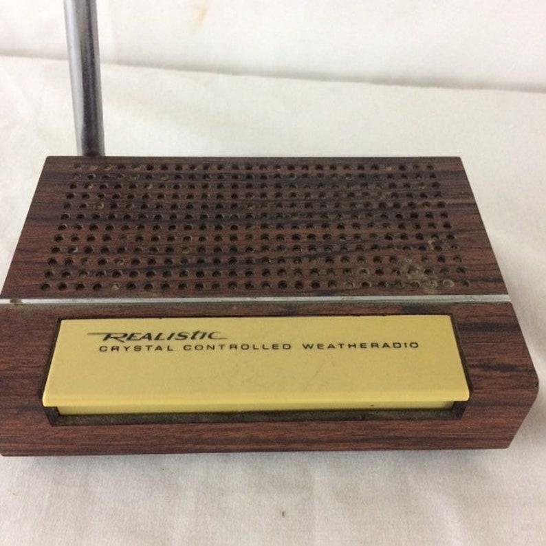1970s Realistic Crystal Weatheradio Weather Radio Model 12-152A Portable