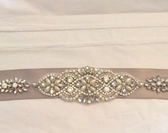 BRIDAL SASH Bridal Belt Rhinestone bridal sash Rhinestone Belt Bridal accessories Wedding Belt Dress Belt Wedding accessories